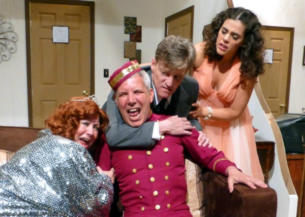 Help!  I''m getting wrinkled! (from left: Susan Goldman Weisbarth, Michael Willens, Harold Dershimer, Samantha Barrios)