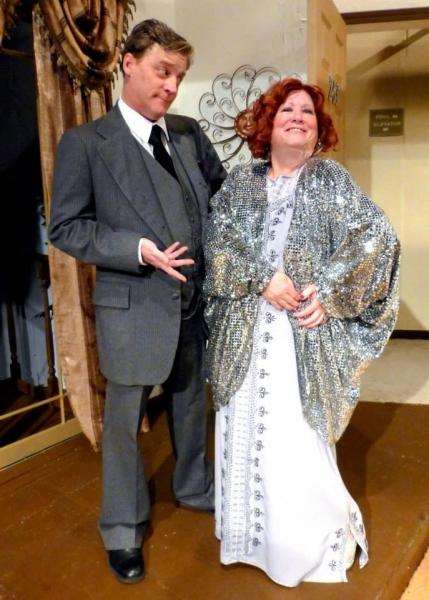 ''How do I look,'' Julia asks Saunders. (from left: Harold Dershimer, Susan Goldman W Photo