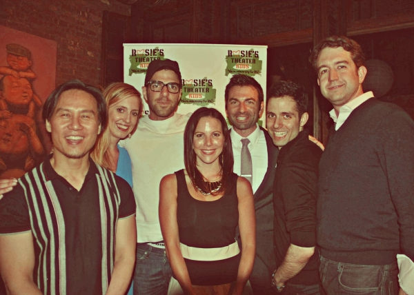 BD Wong, Elizabeth Clinard, Zachary Quinto, Alyson Campbell Roy (front), Matthew Naclerio, Faisal Al-Juburi, and Mike Lawlor