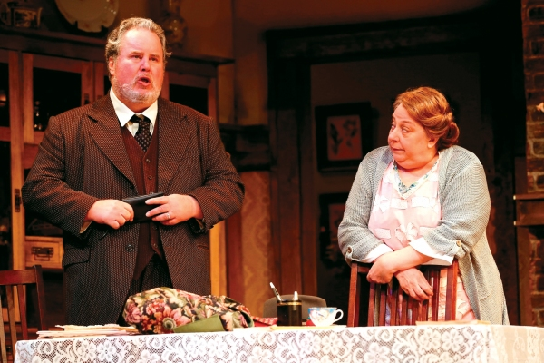 Adam LeFevre and Jayne Houdyshell as Mr. and Mrs. Fisher