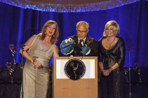 Celebrity Presenters. Mary McDonough, David Rudman (Cookie Monster) and Leslie Miller