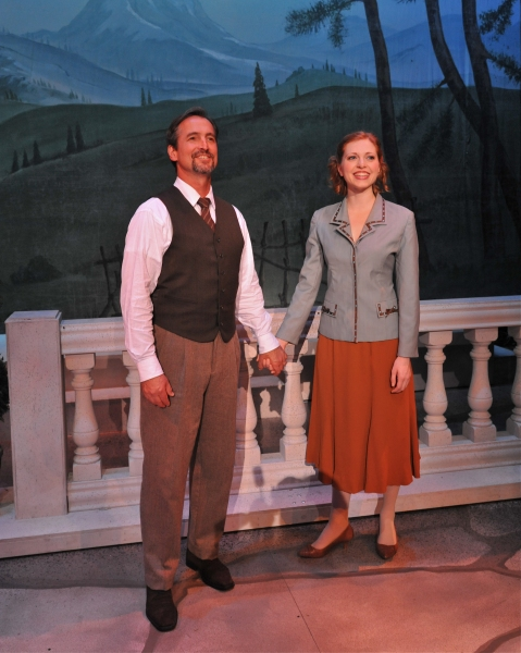 Matthew Shepard as Captain Von Trapp and Aubrey Sinn as Maria