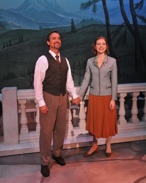 Matthew Shepard as Captain Von Trapp and Aubrey Sinn as Maria