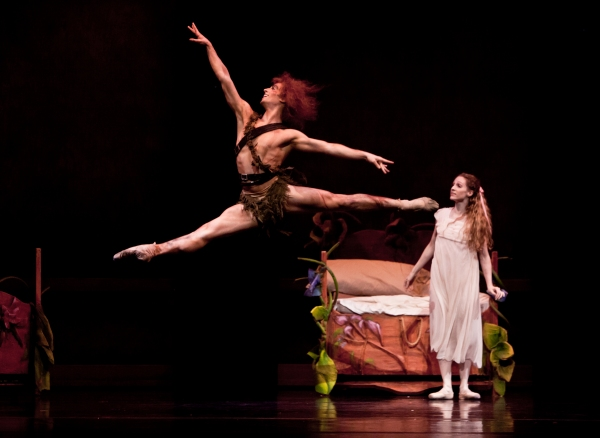 Ballet: PETER PAN. Choreographer: Trey McIntyre. Dancer(s): Sara Webb and Joseph Walsh.