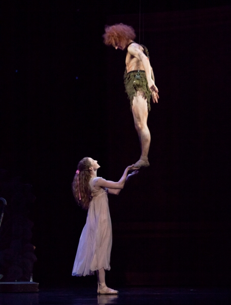 Ballet: PETER PAN. Choreographer: Trey McIntyre.Dancer(s): Sara Webb and Joseph Walsh.