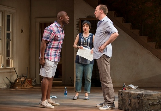 Kevin (Ansa Akyea), Lindsey (Emily Gunyou Halaas) and Steve (Jim Lichtscheidl)