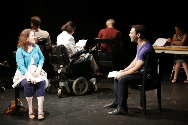 Mary Theresa Archbold (Her) and Jonathan Todd Ross (Him), and cast of Neil LaBute''s CALL BACK