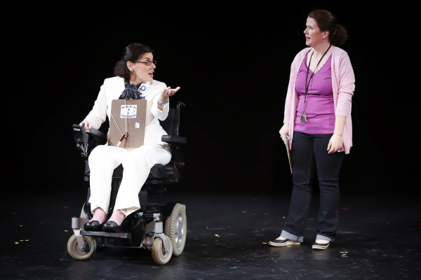 Ann Marie Morelli (Donnelly) and Mary Theresa Archbold (Vicki) in Bruce Graham''s FULLY ACCESSIBLE