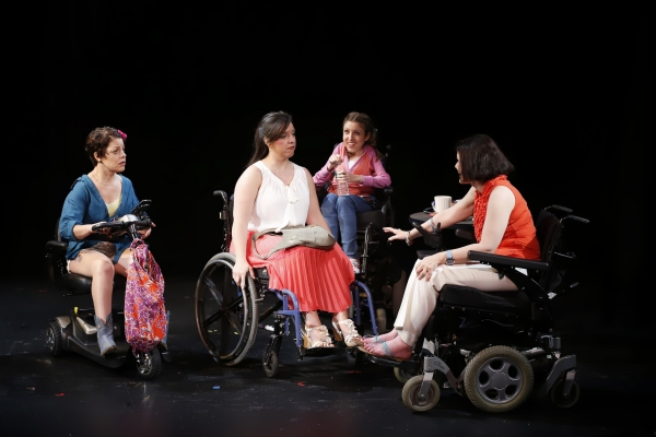 Christine Bruno (Jenny), Jamie Petrone (Abigail), Shannon DeVido (Rhonda) and Ann Marie Morelli (Gloria) in Bekah Brunstetter''s FORGOTTEN CORNERS OF YOUR DARK, DARK PLACE