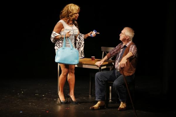 Tonya Pinkins (Muriel) and Lawrence Merritt (Simon) in Jerrod Bogard''s SUPERNOVA IN RESEDA
