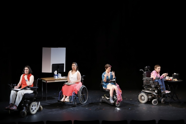 Ann Marie Morelli (Gloria), Jamie Petrone (Abigail), Christine Bruno (Jenny), and Shannon DeVido (Rhonda) in Bekah Brunstetter''s FORGOTTEN CORNERS OF YOUR DARK, DARK PLACE