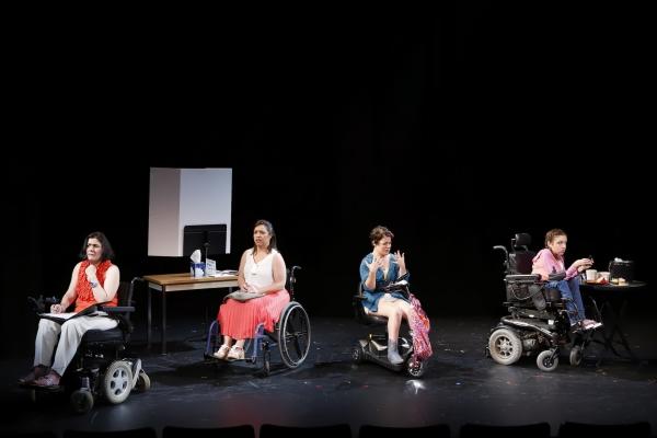Ann Marie Morelli (Gloria), Jamie Petrone (Abigail), Christine Bruno (Jenny), and Shannon DeVido (Rhonda) in Bekah Brunstetter''s FORGOTTEN CORNERS OF YOUR DARK, DARK PLACE