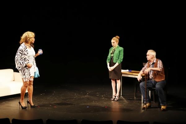 Tonya Pinkins (Muriel), Samantha Debicki (Lauren) and Lawrence Merritt (Simon) in Jerrod Bogard''s SUPERNOVA IN RESEDA
