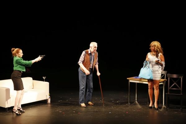 Samantha Debicki (Lauren), Lawrence Merritt (Simon) and Tonya Pinkins (Muriel) in Jerrod Bogard''s SUPERNOVA IN RESEDA