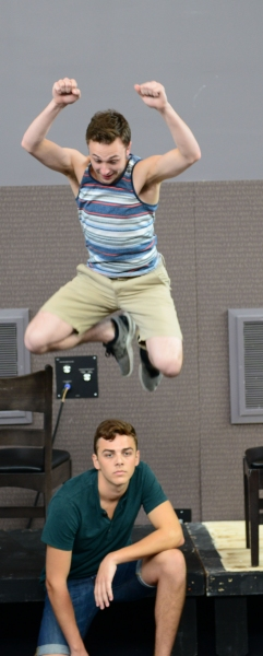 Mid-Air: Daniel Scott Walton (Otto) with Jordan J. Ford (Hanschen) Photo