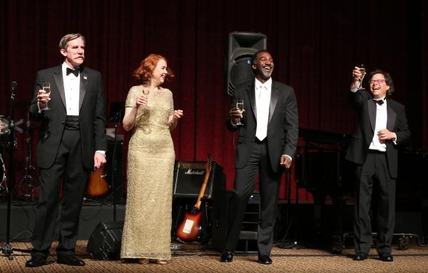 AEA President Nick Wyman; Harriet Harris; Norm Lewis; Brad Ross Photo