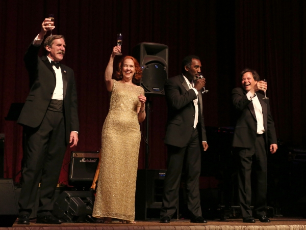 AEA President Nick Wyman; Harriet Harris; Norm Lewis; Brad Ross