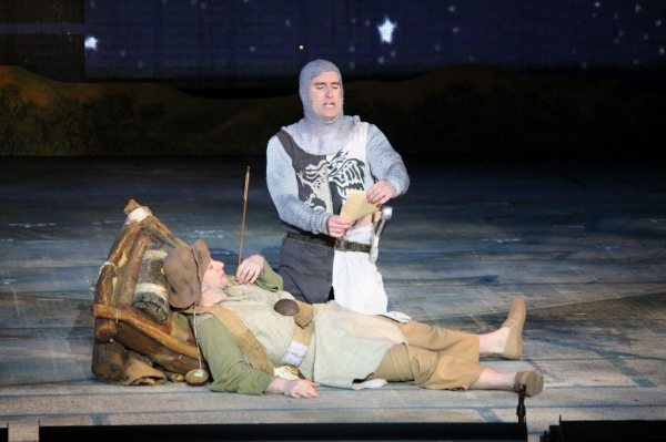 Photo Flash: Eric Idle Surprises the Muny's SPAMALOT Cast on Opening Night!