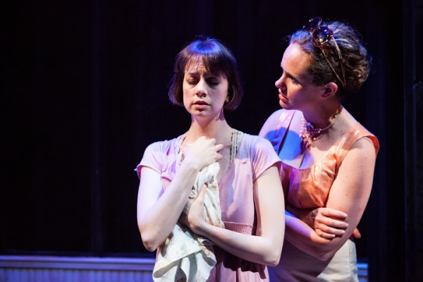 Hillary Clemens as Mari and Cyd Blakewell as Amy