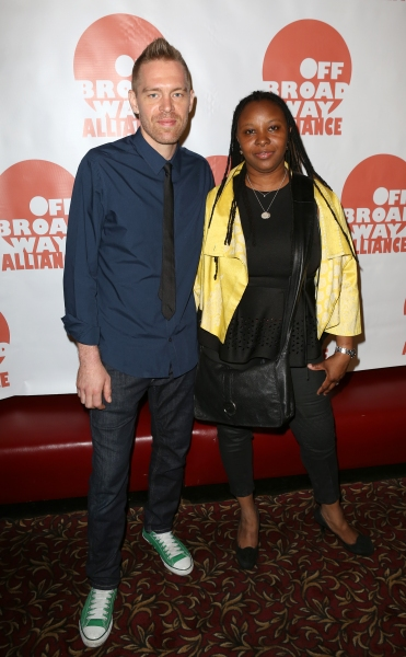 Jason Mills; Leona Wilkes  (''STOMP'')   Photo