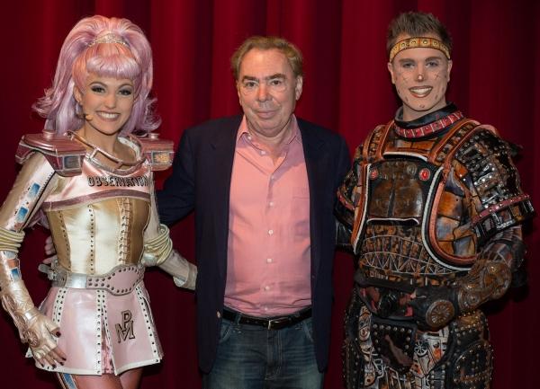 Georgina Hagen, Sir Andrew Lloyd Webber and Marcel Brauneis