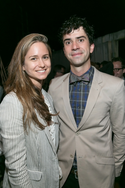 Katherine Waterston and Hamish Linklater