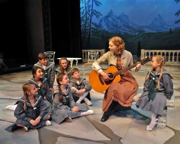 Maria (Aubrey Sinn) and the Von Trapp Children sing ''Do Re Mi'' Photo