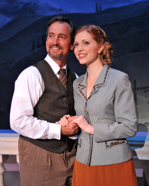 Captain Von Trapp (Matthew Shepard) and Maria (Aubrey Sinn)
