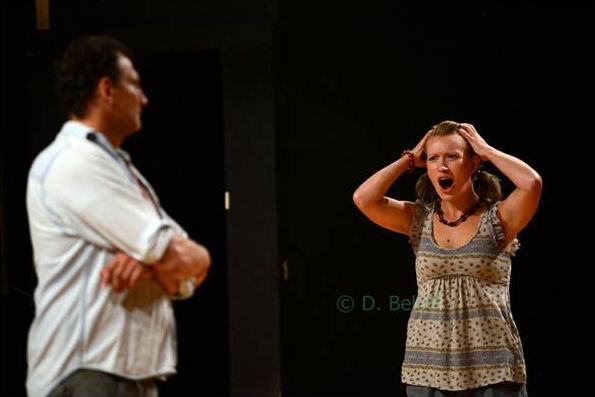 Matthew Hutchinson as Shultz and Sarah Reger Hoover as Theresa