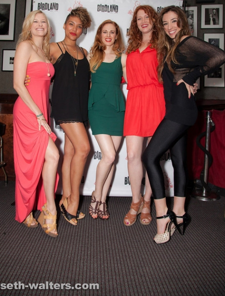 Dana Costello, Emmy Raver-Lampman, Teal Wicks, Courtney Markowitz and Ashley Loren