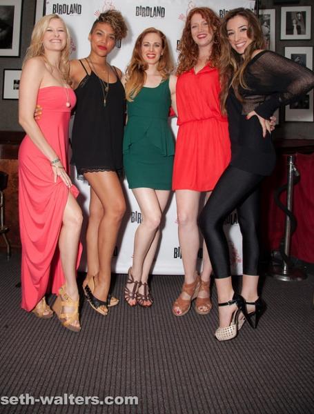 Dana Costello, Emmy Raver-Lampman, Teal Wicks, Courtney Markowitz and Ashley Loren Photo