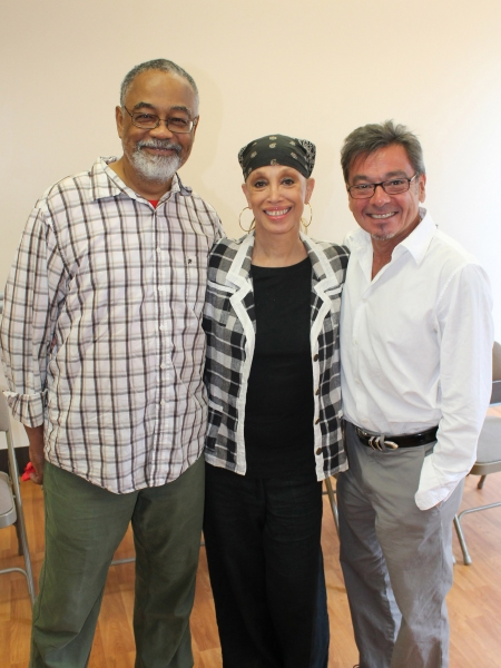 The creative team:  William Foster McDaniel (music director), Mercedes Ellington (choreography) and Bill Castellino (director)
