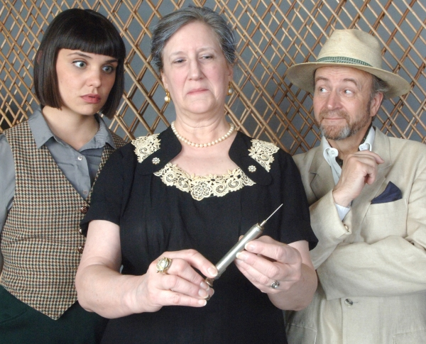 Mrs. Elmore Boynton (Muriel J. Bonertz, left) is certainly ill enough to die a natural death but apparently someone just couldn''t wait, and everyone becomes a suspect when she''s found dead. (with Molly Pach Johnson and Scott Keely)