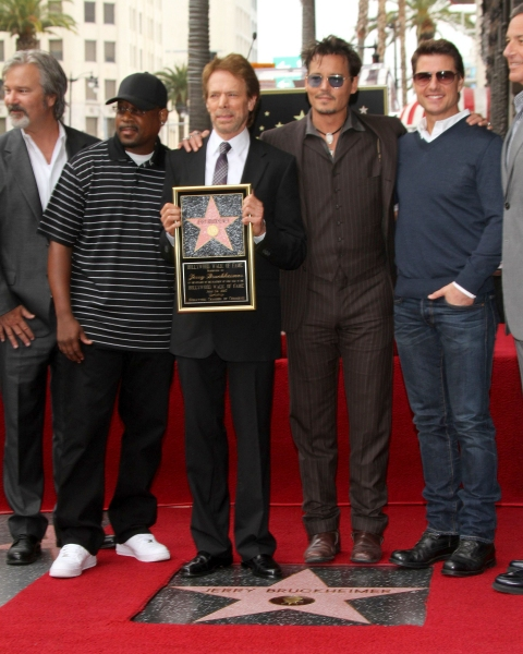 Gore Verbinski, Martin Lawrence, Jerry Bruckheimer, Johnny Depp and Tom Cruise