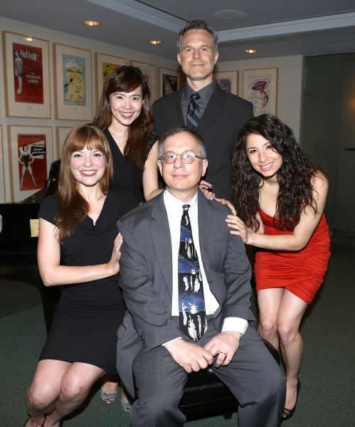 (clockwise from bottom left) Jillian Louis, Joy Son, Jonathan Rayson and Tara Novie pose for photos with 2013 Kleban Prize winner Alan Gordon