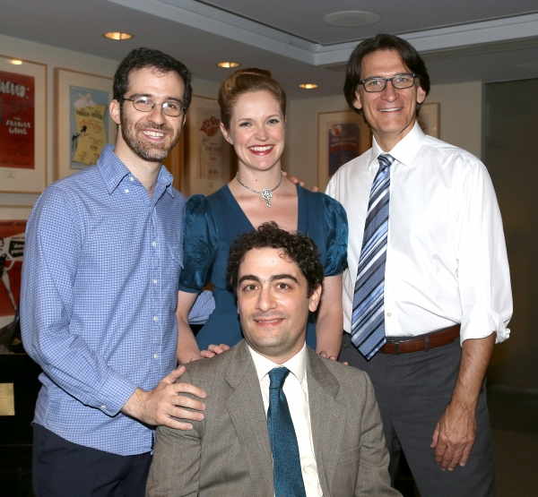 (clockwise from top left) Will Aronson, Grace McLean and Bob Stillman pose for photos with 2013 Kleban Prize winner Daniel Mate
