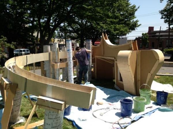 Photo Flash: Karlis Rekevics Creates Live Artwork to Celebrate Staten Island's Architecture