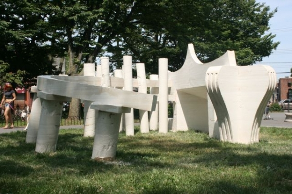 Photo Flash: Karlis Rekevics Creates Live Artwork to Celebrate Staten Island's Architecture