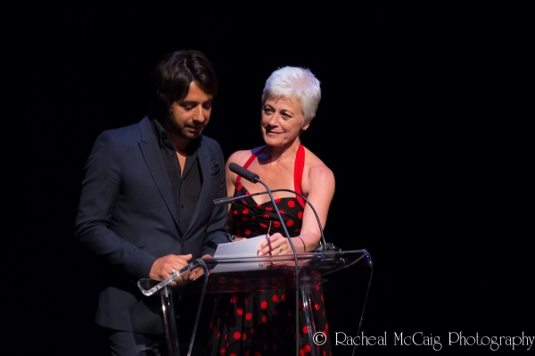 Jian Ghomeshi and Louise Pitre