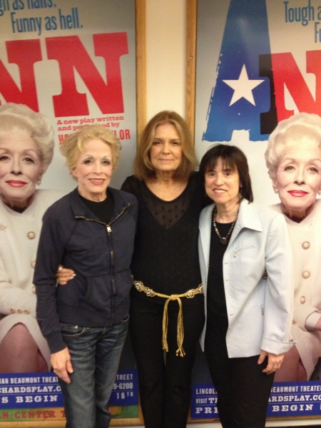 Holland Taylor, Gloria Steinem, Harriet Newman Leve