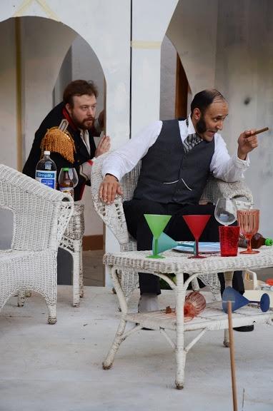 Elliot F. Fox (as Sir Toby Belch) and Jeffery W. Jones (as Malvolio)