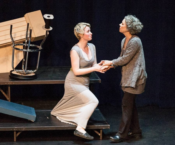 Melissa Lourie and Mimi Bain perform a scene from Othello