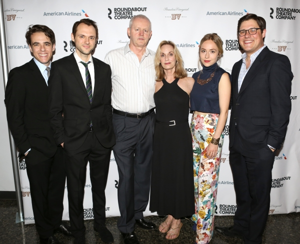 (L-R) Steven Levenson, Christopher Denham, David Morse, Lisa Emery, Sarah Goldberg and Rich Sommer