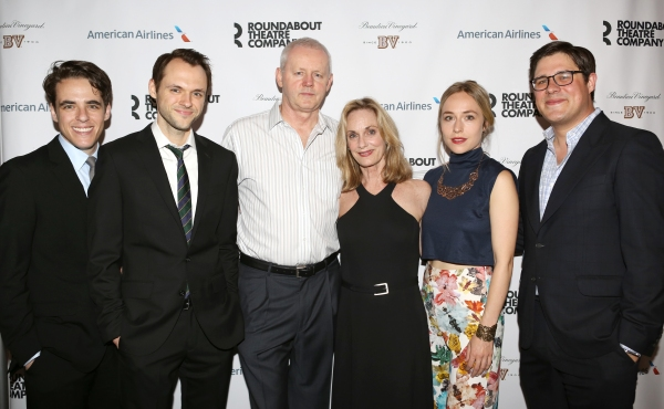 Steven Levenson, Christopher Denham, David Morse, Lisa Emery, Sarah Goldberg and Rich Sommer