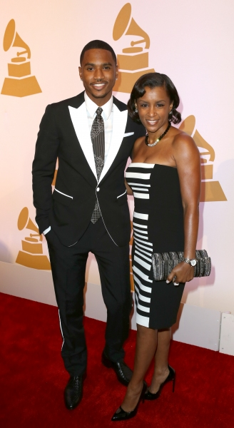 Trey Songz with his mother April Tucker