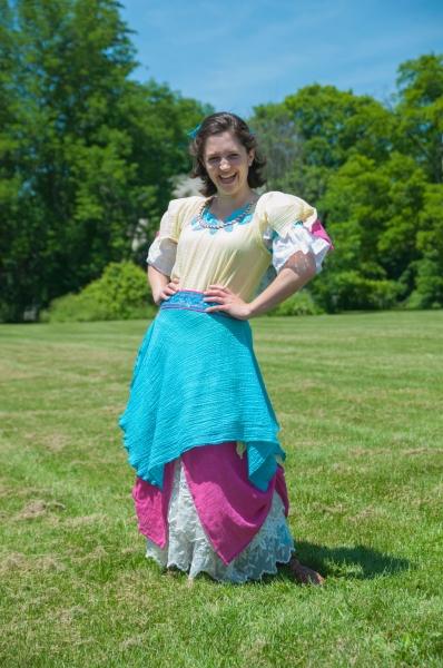 Caroline Calkins as Celie. Costume by Stella Schwartz Photo