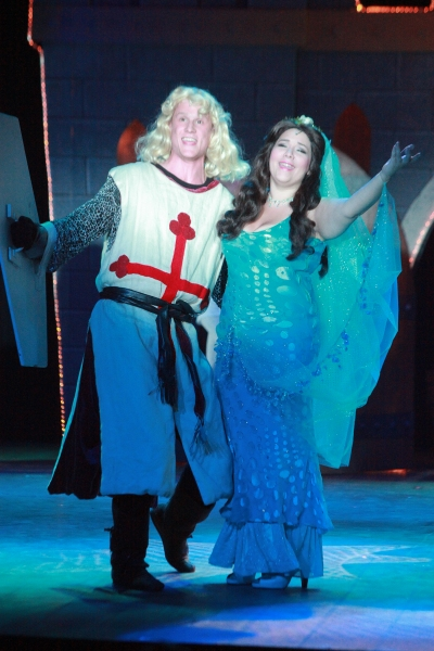Thomas Cannizzaro (King Arthur) and Bethany Fagan (The Lady of the Lake)