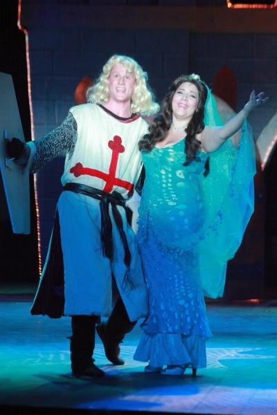 Thomas Cannizzaro (King Arthur) and Bethany Fagan (The Lady of the Lake)
