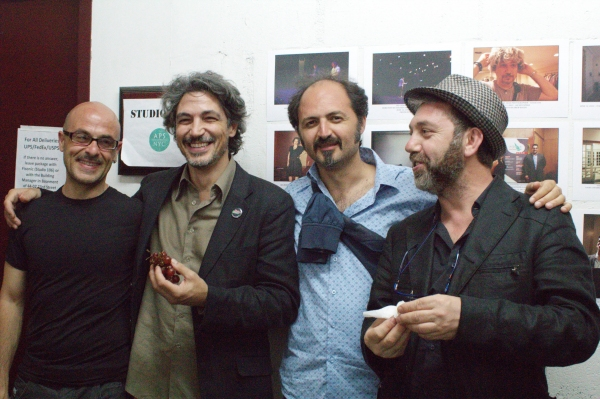 Manolo Muoio, Francesco Foti, Ernesto Orrico, Dante De Rose at final event of In Scena: Italian Theatre Festival NY,  ''A Tribute to Mario Fratti: Three one acts by the author of ''Nine,'' directed by Kevin Albert at The Secret Theatre. Photo by Alex Dian