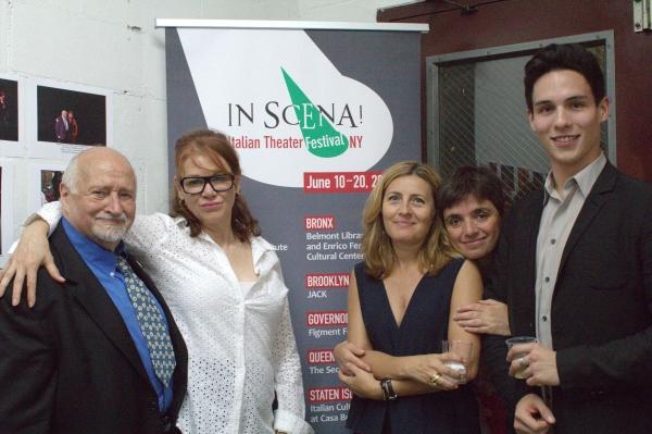 Mario Fratti, Lulu Roche, Donatella Codonesu, Laura Caparrotti and Francesco Andolfi. Photo